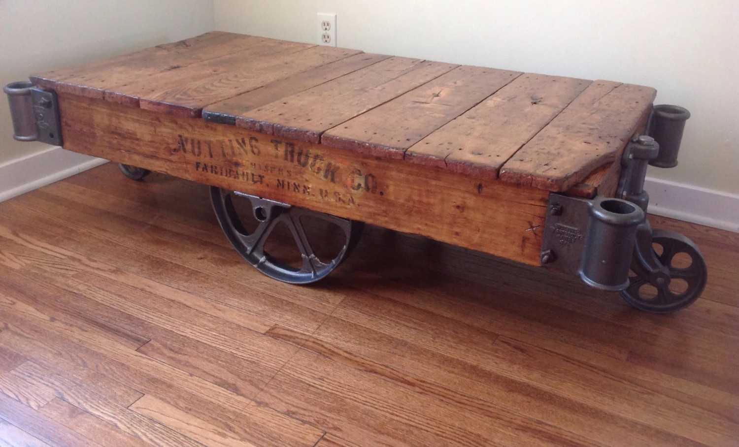 Nutting Warehouse Cart Coffee Table Refinished Sold