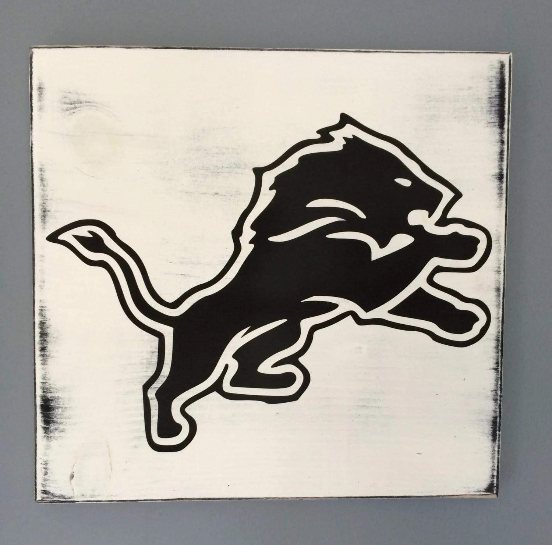 Detroit Lions wood wall art