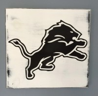 Detroit Lions wood wall art