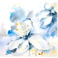 Abstract Flowers Watercolor Painting Art Print Abstract Art