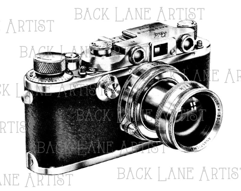 Vintage 35mm Precision The Reid Camera Clipart Lineart