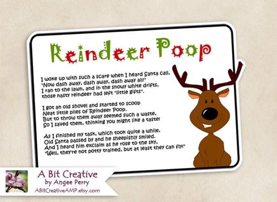 Reindeer Poop Christmas Stocking Stuffer Gag Gift Design DIY
