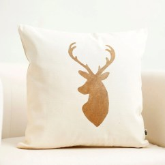 Deer Print Sofa Covers Leather And Fabric Mix Corner Head Pillow Cover Reindeer Christmas By Pillowlink