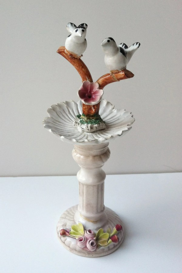 Capodimonte Porcelain Love Birds Figurine Rare