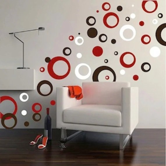 Rings And Dots Wall Decal Ring Decals Bedroom Circles