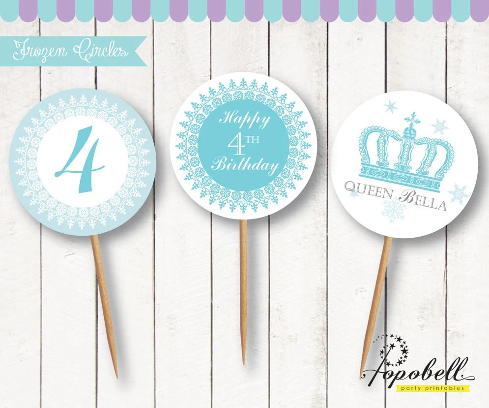 Frozen Cupcake Toppers For Frozen Birthday Party