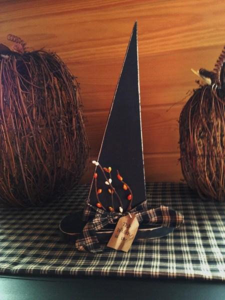 primitive halloween decor Primitive Wooden Witch Hat Halloween Decor Witch Decor Fall