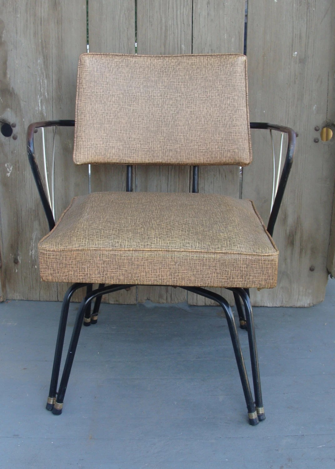 Hairpin Leg Chair Vintage 1950 39s Chair Metal Hairpin Leg Salon Waiting