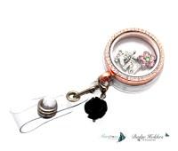 magnetic locket badge holder glass locket id by ...