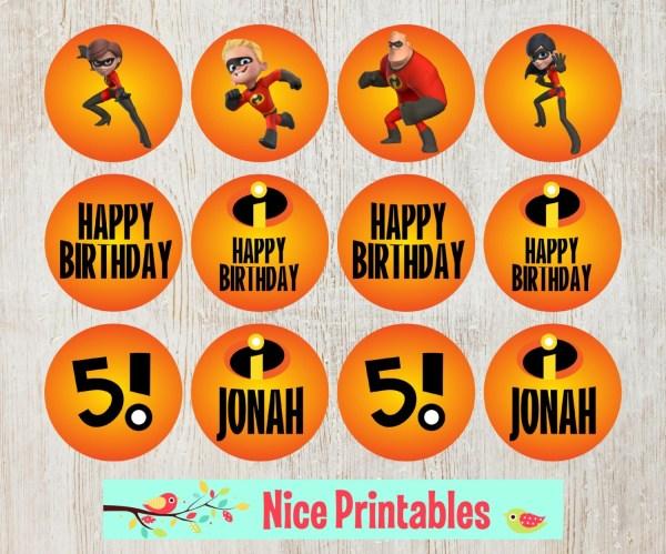 Disney Incredibles Cupcake Toppers Superheroe