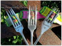 Items similar to Garden Markers, Vintage Silverware ...
