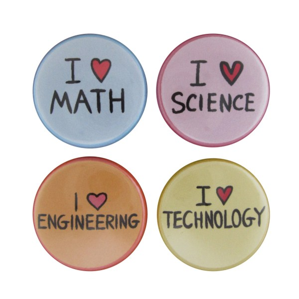 Stem Set Of 4 Magnets Science Technology Engineering