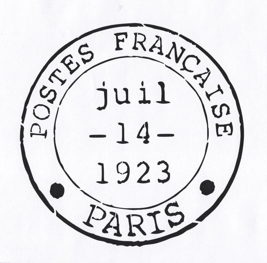 Paris Stencil French Stencil Postmark Stencil France