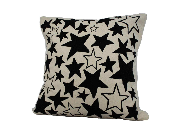Star Bright Pillow  Screen Print on Cotton Canvas Pillow