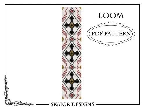 Loom Beading Pattern Gothic Cross Loom Bracelet Tribal