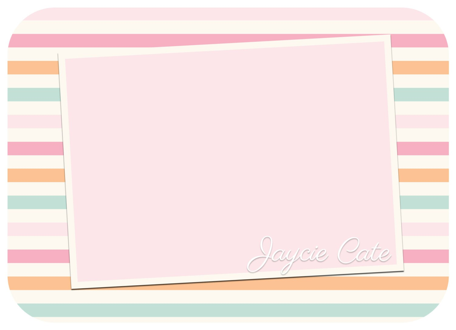 Baby Girl Announcements Template