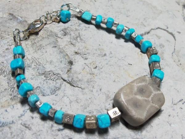 Handmade Petoskey Stone Bracelet Beach Hill