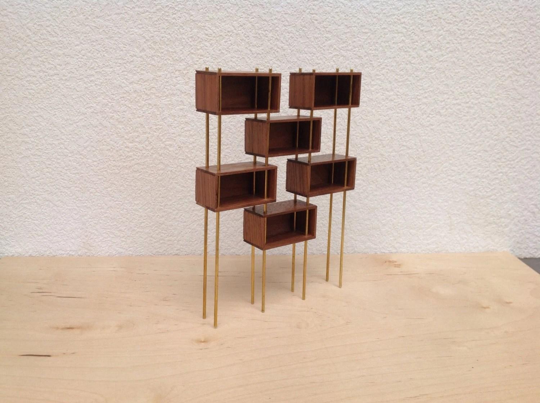 Mid Century Modern Miniature Modular Shelf Unit Room Divider