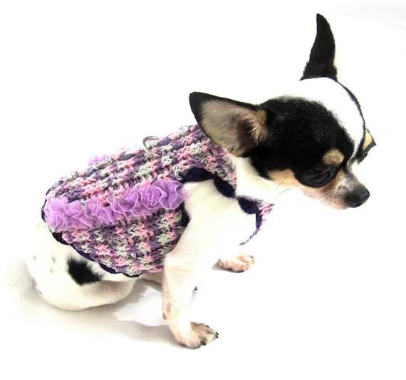 Fancy Dog Harness Sweater Pet Clothing Chihuahua by myknitt