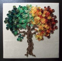 Paper Quilled Tree Wall Art