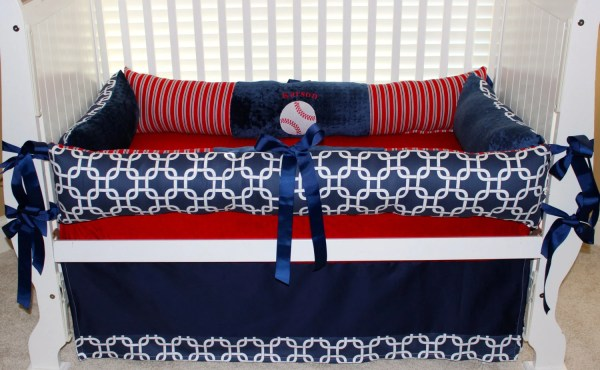 Custom Baby Bedding 3 Pc Set Baseball Karson