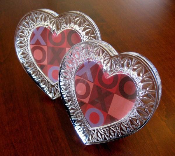 Heart Shaped Frame Set Two Glass Frames