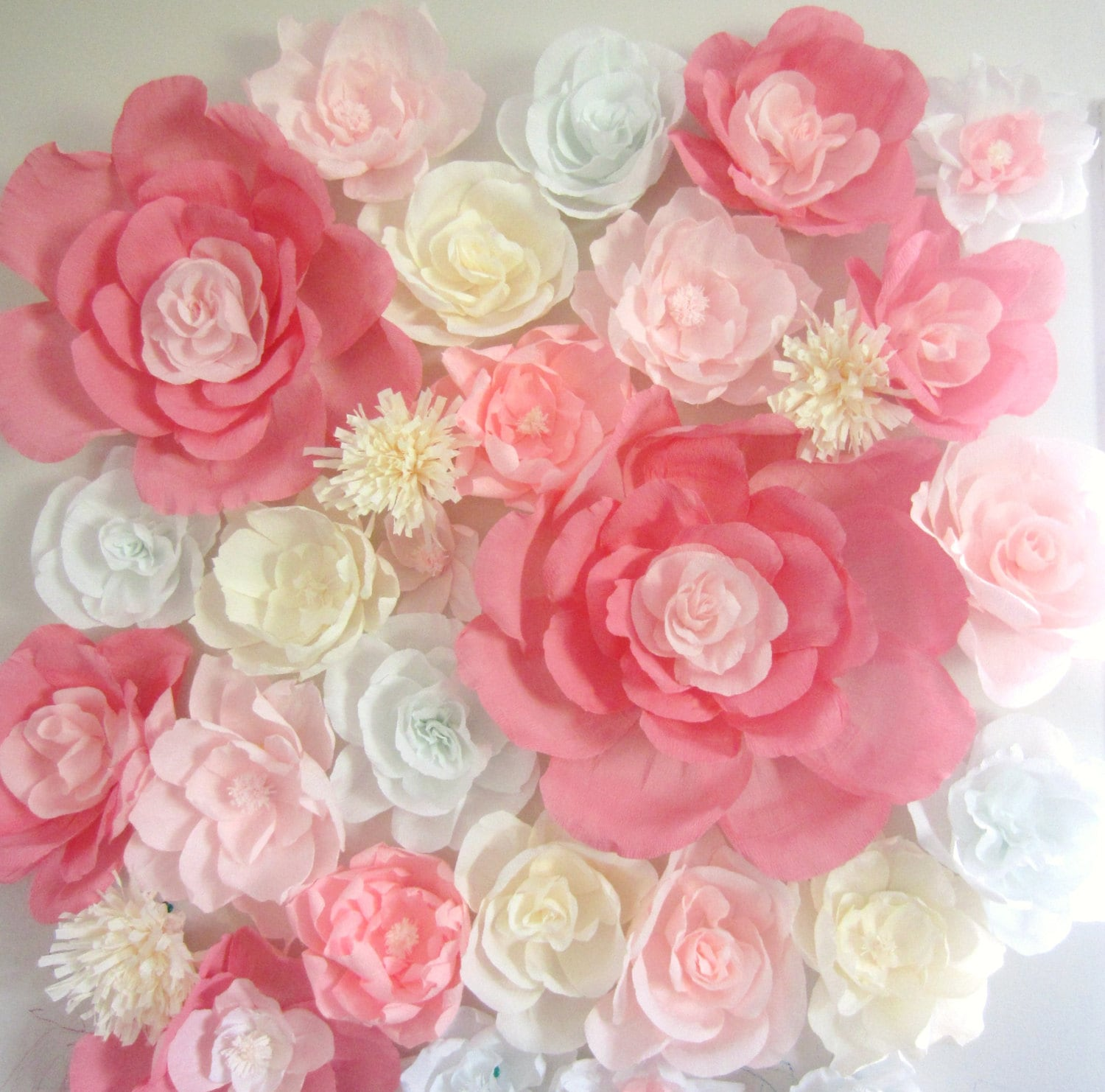 paper flower wall display