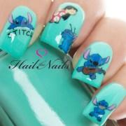 lilo & stitch nail art wraps water