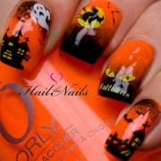 halloween nail art water transfer
