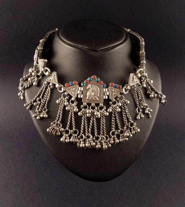 Rajasthan Silver Choker Necklace Indian Tribal