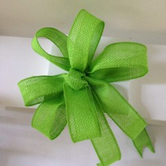 Burlap Bows For Wedding Chairs Loose Chair Covers Australia Green Apple Jute Bow Pew Tables