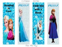 Frozen Book Marks DIY Printable Frozen party favors Frozen