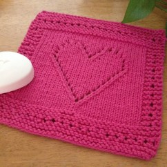 Kitchen Cotton Yarn Modular Cabinets Dishcloth Knit Pink Heart 100
