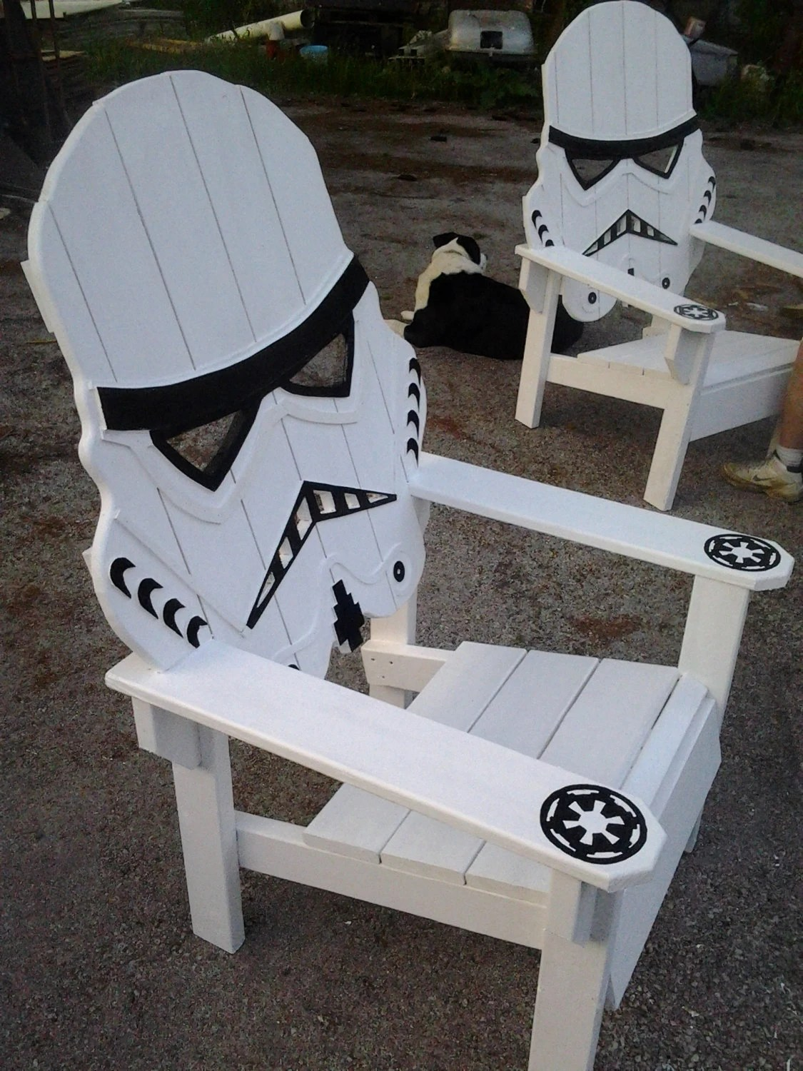 star wars storm trooper chairAdirondack chair Yard by MandWs