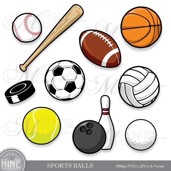 sports balls clip art clipart