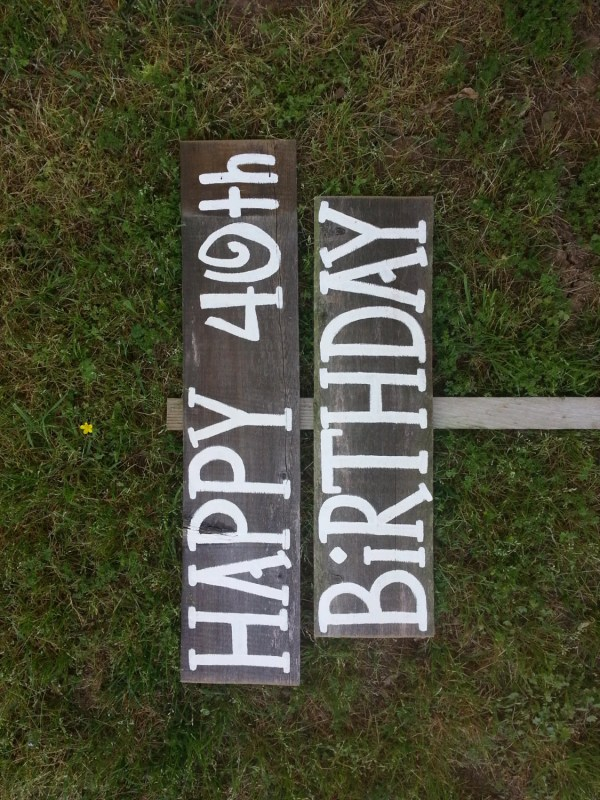 Happy 40th Birthday Sign Yard Decorations