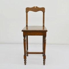 Vintage Vanity Chair Covers Wedding Telephone Desk Or Solid Oak Wood