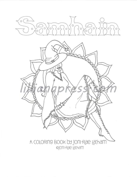 Samhain PDF Coloring Book by LillianaPress on Etsy