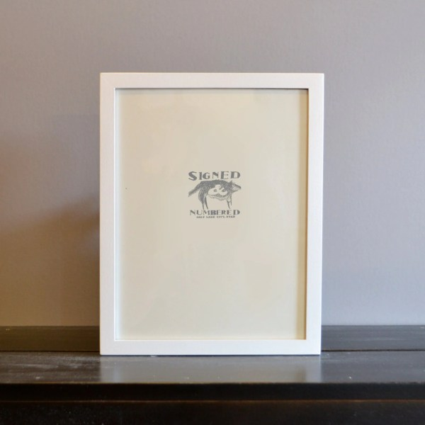 8.5 X 11 Frame In Peewee Style With Solid White