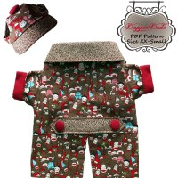 Dog Clothes Pattern To Sew Boys Coat by MissDaisyDesignsShop