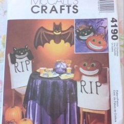 Fancy Chair Covers For Sale Balance Ball Office Reviews Out Of Print Mccalls M4190 Halloween Craft Pattern, Bat, Cat, Pumpkin, Rip Cover, Treat ...