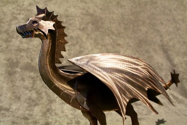 Mini Metal Dragon Sculpture