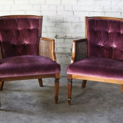 Iron Chaise Lounge Chairs Aeron Chair Herman Miller Review Sold Renee 2 Plum Purple Vintage Tufted Velvet Side