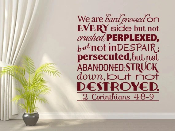 Bible Wall Quotes 2 Corinthians 4 89 CODE 008