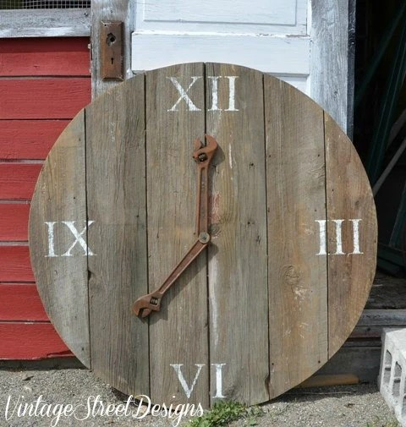 Items Similar To Barn Wood Clock 45 Inch Round Rustic Barn Wood Sign Wall Art Wedding