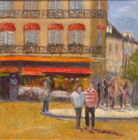 Summertime Paris Original French Cafe Bistro Romantic