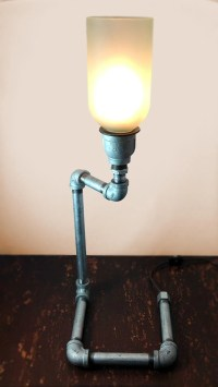 Items similar to Recycled Wine Bottle Pipe Lamp on Etsy
