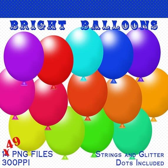 balloons clip art pack 49