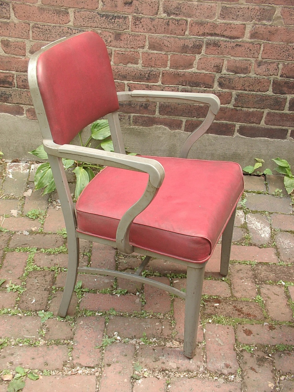 steelcase vintage chair contemporary red dining chairs 1950 39s office steel by