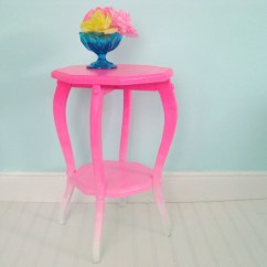 Neon Pink Chair Two Person Swing Vintage Side Table Painted Ombre